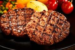 Enjeux de viande hachée photos stock
