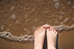 Enjoing the sea Stock Photography