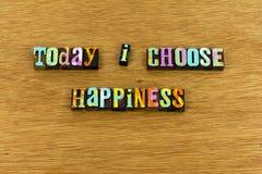Enjoy att välja typografi för lyckalivförälskelse royaltyfri fotografi
