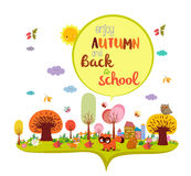 Enjoy autumn and back to school. autumn banner background Stock Image