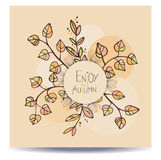Enjoy autumn card Royalty Free Stock Images