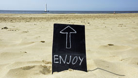 Enjoy the beach Royalty Free Stock Photography