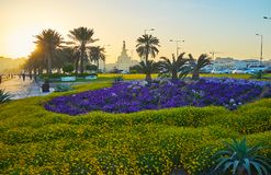 In seaside park of Doha, Qatar Stock Images