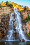 Enjoy beautiful waterfall. This is the waterfall, though it is in the shadow, it never reduces its beauty Stock Photos