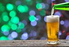 Enjoy beer in night club. Enjoy beer in night club, night life concept stock photo