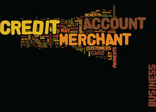 Enjoy The Benefits Of A Credit Merchant Account Text Background Word Cloud Concept Stock Image