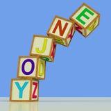 Enjoy Blocks Mean Recreation Play Or Fun. Enjoy Blocks Meaning Recreation Play Or Fun Stock Photos