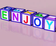 Enjoy Blocks Show Pleasant Relaxing And Pleasing. Enjoy Blocks Showing Pleasant Relaxing And Pleasing Stock Image