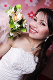 She is enjoy bride Royalty Free Stock Photo