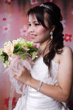 She is enjoy bride Stock Photos