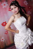 She is enjoy bride Stock Photo