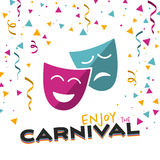 Enjoy the Carnival on a white background stock illustration