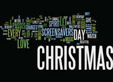 Enjoy Christmas Everyday With Christmas Screensavers Text Background  Word Cloud Concept Stock Photography