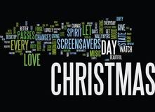 Enjoy Christmas Everyday With Christmas Screensavers Word Cloud Concept Stock Photos