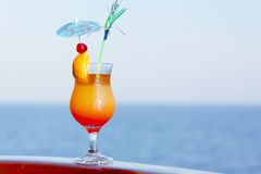 Enjoy a cocktail in the journey Royalty Free Stock Photography