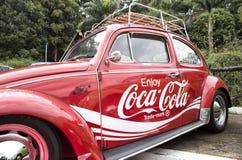 Enjoy a coke car Royalty Free Stock Photos