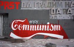 Enjoy communism  grafitti Royalty Free Stock Photography