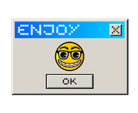 Enjoy computer message. Funny design of enjoy computer message Stock Photography