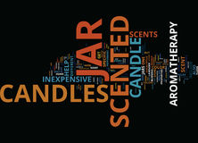 Enjoy The Convenience Of Scented Jar Candles Inexpensive And Useful Word Cloud Concept Stock Photography