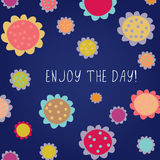 Enjoy the day greeting card Royalty Free Stock Photography