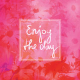 Enjoy the day, greeting card Stock Photography
