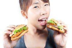 Enjoy eating Royalty Free Stock Photography