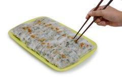Enjoy eating Asian healty food. Stock Image