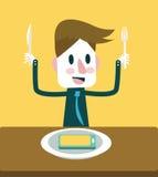 Enjoy eating Smart phone menu. Smart phone mania. vector illustration
