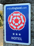 Enjoy England Sign. A sign indicating that the hotel has a 3 star rating from Enjoy England Stock Photos