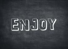 Enjoy enjoyment day life time today now letterpress quote royalty free stock photo