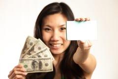 Enjoy etwas Geld mit diesem verdienend Stockbild