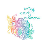 Enjoy every moment hand lettering. Stock Image