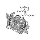 Enjoy every moment hand lettering. Royalty Free Stock Photos
