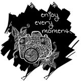Enjoy every moment hand lettering. Stock Photography