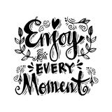 Enjoy every moment Royalty Free Stock Image