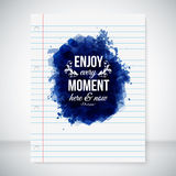 Enjoy every moment here and now. Stock Photos