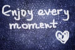 Enjoy every moment Royalty Free Stock Photo
