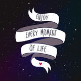 Enjoy every moment of life Royalty Free Stock Images