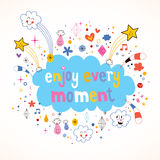 Enjoy Every Moment. Motivational quote Stock Photo