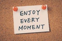 Enjoy every moment Royalty Free Stock Photo