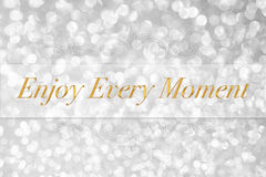 Enjoy every moment quote typography Royalty Free Stock Photo