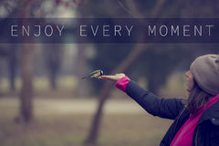 Enjoy every moment Royalty Free Stock Photos