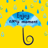 Enjoy every moment - vector illustration. Stock Photography