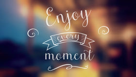 Enjoy every moment vector illustration. Royalty Free Stock Photography