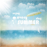 Enjoy every summer day Royalty Free Stock Photo