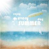 Enjoy every summer day. Eps 10 vector illustration Royalty Free Stock Photo
