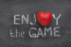 Enjoy the game heart Royalty Free Stock Photography