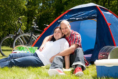 Enjoy the good weather on our vacation Royalty Free Stock Photography