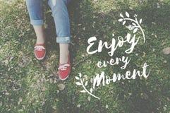Enjoy Happiness Lifestyle Freedom Fun Concept Stock Image