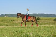 Enjoy horse riding Stock Image